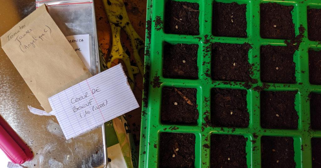 noter ses variétés pour faire ses semences et les échanger